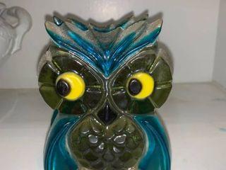 Cute Mid Century Resin Owl Napkin letter Holder location Kitchen