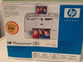 HP Photosmart 385 Compact Photo Printer Never Used location Kitchen