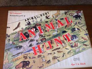 Bit Enterprises 1961 Animal Hunt Board Game location lR