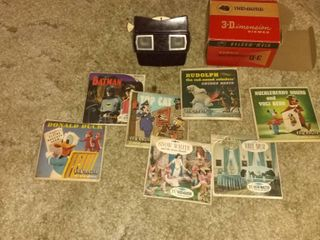 Vintage In Excellent Condition Black View Master With Various Viewing Disc s Tested And Working