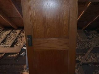 Antique Wood Door With Hardware location Upstairs