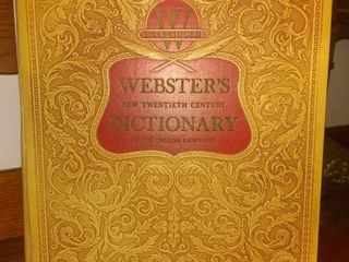 A Beautiful Vintage Webster's New Twentieth Century Dictionary From 1956