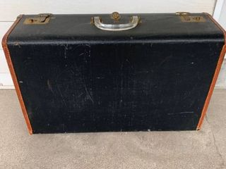 Awesome leather Suitcase With lucite Handle U S  Trunk Co  location Spare