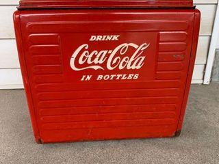 Antique 50s Metal Coca Cola Cooler Ice Chest location Kitchen