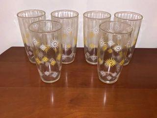 Set of 6 Fun Atomic Glass Tumblers Anchor Hocking location Kitchen