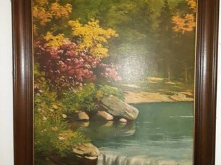 Beautiful Hanging Picture of Lake and Trees