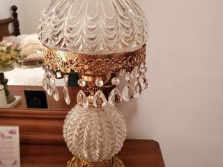 Vintage Crystal Nightlight lamp with PRISMS and Crystal Shade