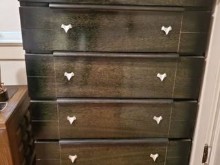 Black Mid Century Chest of Drawers