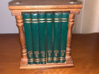 Set of 6 Book Style Coasters location Mantel