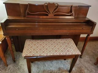Harrington Piano made by Hardmen Pecke Co  NEW YORK  with MAFCO Bench