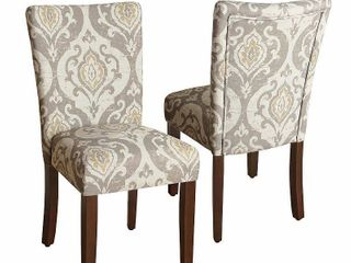 HomePop Classic Parsons Dining Chair   Suri Brown  Set of 2  Retail 187 47