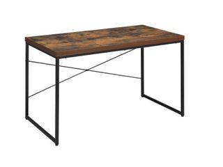 Carbon loft Kehlmann Black Metal and Wood Desk  Retail 112 99
