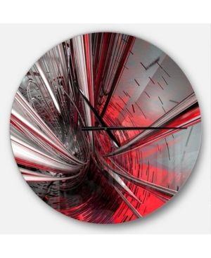 Designart  Fractal 3D Deep into Middle  Oversized Modern Wall Clock  Retail 112 49