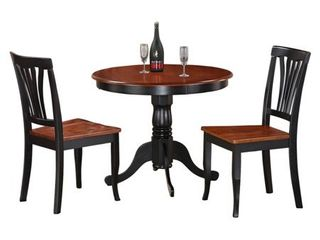 east west furniture chairs only black and cherry set of 2