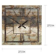 The Gray Barn Jartop Square Wall Clock   27 5 H x 27 5 W x 1 5 D broken plastic battery piece