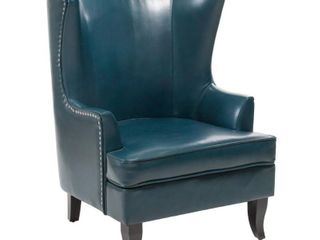 Canterburry High Back Bonded leather Wing Chair by Christopher Knight Home  Retail 355 49