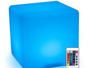 HomCom 16 inch RGB Adjustable Color Changing Cube Chair   16 Inch  Retail 85 49 no remote
