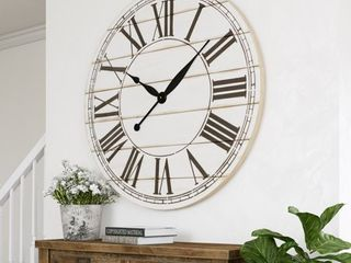 The Gray Barn Oversize Shiplap Wall Clock   48 H x 48 W x 1 5 D   Retail 156 99