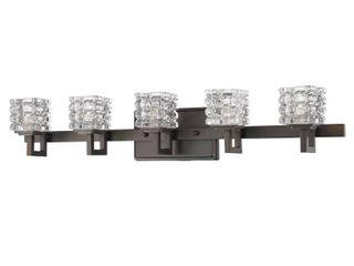 Coralie 5 light Oil Rubbed Bronze Bath Vanity Fixture  Retail 358 00