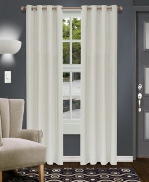 Superior Shimmer Blackout Curtain Panel Set with Grommet Header