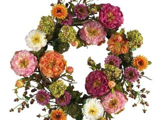 Mixed Peony 20 inch wreath