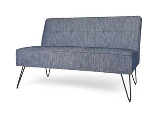 Berkman Modern Fabric Settee with Hair Pin legs by Christopher Knight Home  Retail 259 49