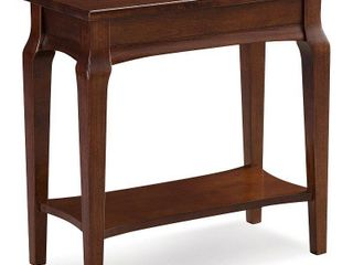 KD Furnishings Cherry finish Wood Narrow Chairside Table  Retail 114 00