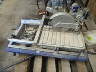 Kobalt 7in. Sliding tile saw w/portable stand