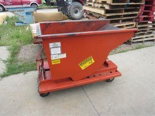 Meca 1/3yd cap metal dumpster on wheels