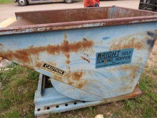 Wright self-dumping hopper 3/4yd, on wheels