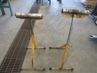 2-adjustable roller stands, 12in. rollers