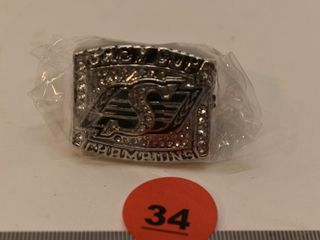 Sask Roughriders Grey Cup Replica Ring
