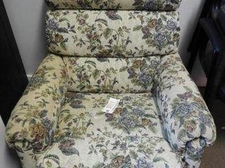 Lot #3771 -Floral Upholstered recliner