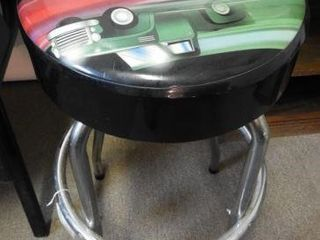 Lot #3773 -Shop stool with Truck, Car and