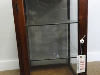 Lot #3775 -Mahogany single door counter top
