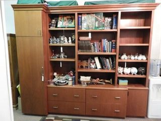 Lot #3782 -Contemporary Office style wall