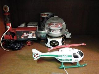 Lot #3785 -Texaco Toy gas pump, Hess Truck,