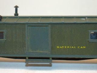 Western Union 7559 Material Car Ambroid HO