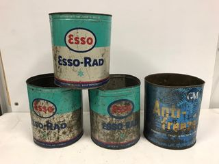 Esso and GM antifreeze tins