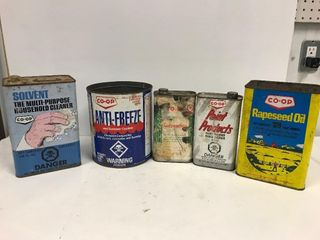 Co-op tin collectibles