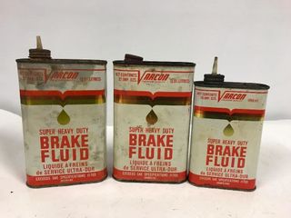 Varcon brake fluid tins