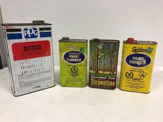 Paint thinner tins