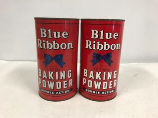 Blue Ribbon tins.