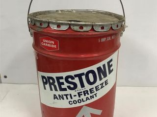 Prestone anti freeze pail