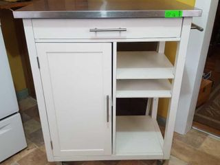 Microwave stand on wheels with stainless steel