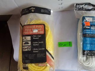 2 packages of nylon rope.