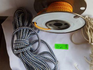 Assortment of nylon rope. Unsure of total length
