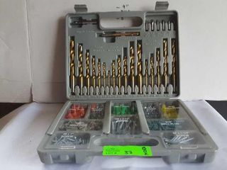 Complete wall anchor set. Comes with drill bits,