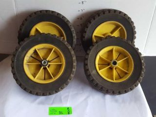 Lawn mower wheels. Used but in excellent shape.