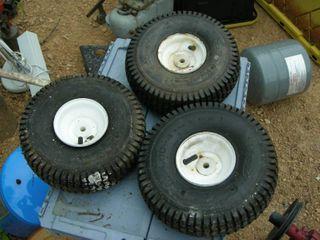 Set of 3 11x4.00-4 Utility Wheels